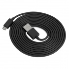 USB Male to Micro USB Male Data / Charging Cable for Cell Phone + More - Black (200cm)
