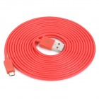 Micro USB Male to USB Male Charging Data Cable for HTC / Samsung / BlackBerry - Red (300cm)