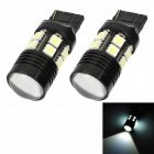 T20 12W 12-SMD 5050 + R3 LED White Light Car Brake / Backup / Steering Light (DC 12~24V / 2 PCS)