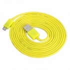 USB Male to Micro USB Male Data / Charging Cable for Cell Phone + More - Yellow (200cm)