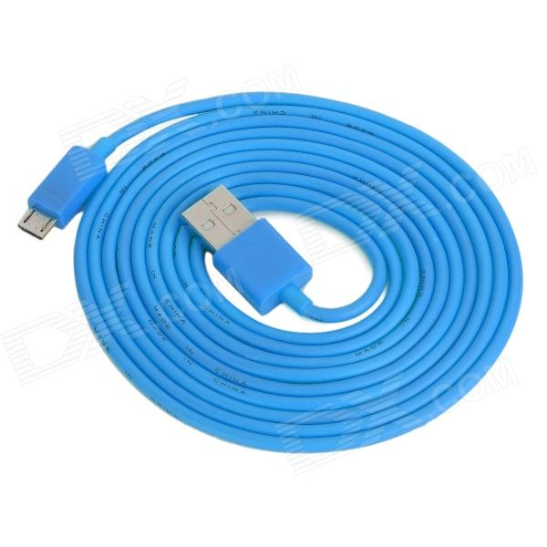 USB Male to Micro USB Male Charging / Data Cable for Cell Phone + More - Blue (200cm) retractable usb charging cable for nokia 9500 communicator 8800 8600 luna more 70cm