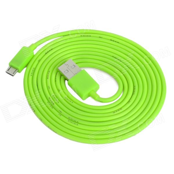 USB Male to Micro USB Male Data / Charging Cable for Cell Phone + More - Green (200cm) retractable usb charging cable for nokia 9500 communicator 8800 8600 luna more 70cm
