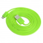 USB Male to Micro USB Male Data / Charging Cable for Cell Phone + More - Green (200cm)