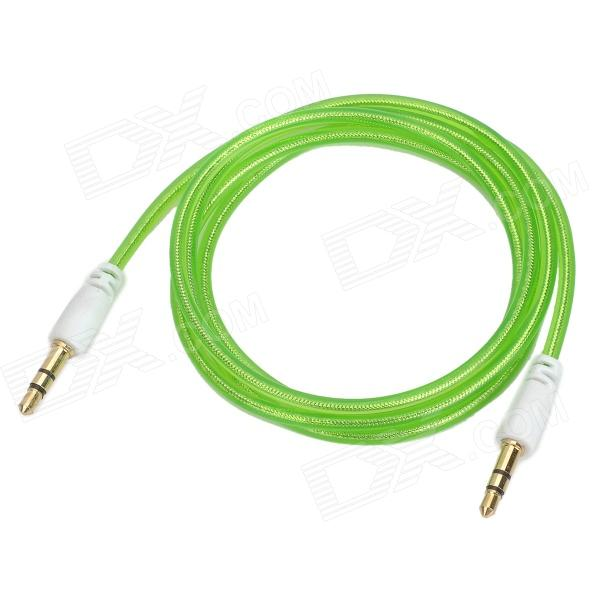 3.5mm Male to Male Audio Connection Cable - Transparent Green (100cm)