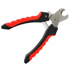 Nail Clippers Scissors + Nail File Set for Pet - Red + Black