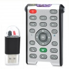 3-in-1 Wireless Infrared Remote Controller + Laser Pointer + USB Receiver for PC / Tablets - Black