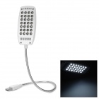 USB Powered 28-LED Super Bright White Light Illumination Lamp - White