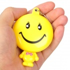 Lovely Girl Smiley Face Style Mini Costume Makeup Mirror - Yellow + Black