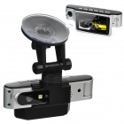 "X9000 2.7"" TFT Dual-Lens 5.0MP CMOS Wide Angle Digital Car DVR Camcorder - Silver"