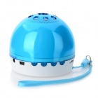 COS520 Mini Rechargeable Stereo Media Player Speaker w/ FM Radio / TF / Strap - Blue + White