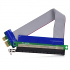 PCI Express PCI-E 1X Male to 16X Female Riser Card Extender Ribbon Cable for 1U / 2U Chassis (15cm)