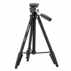 Universal Aluminum Alloy 3-Section Tripod for Digital Camera - Black