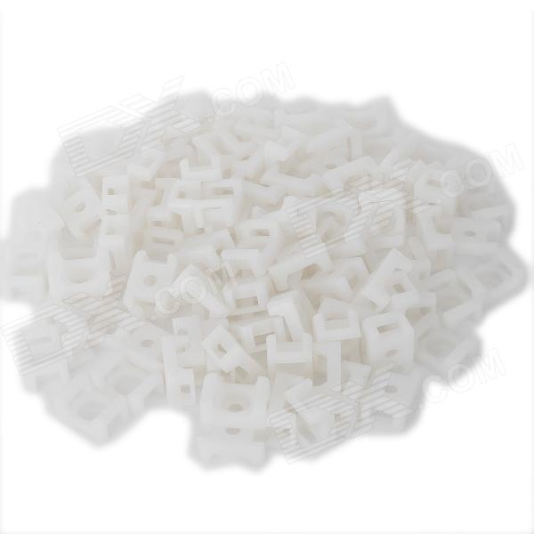 Wire Cable Tie Fixed Mount - White (100 PCS)
