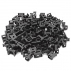 Wire Cable Tie Fixed Mount - Black (100 PCS)