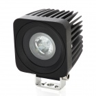 10W LED Vehicle White Light Working Auxiliary Lamp - Black (9~30V)