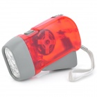 Hand-Pressing 1W 100lm 3-LED White Light Flashlight w/ Strap - Red