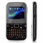 "C3222 GSM QWERTY Bar Phone w/ 2.2"" Screen, Quad-Band, FM, TV and Dual-SIM - Black"