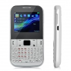 "C3222 GSM QWERTY Bar Phone w/ 2.2"" Screen, Quad-Band, FM, TV and Dual-SIM - White"