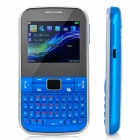"C3222 GSM QWERTY Bar Phone w/ 2.2"" Screen, Quad-Band, FM, TV and Dual-SIM - Blue"