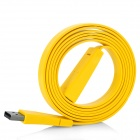 USB 2.0 Male to Female Extension Flat Cable - Yellow (1.5m)