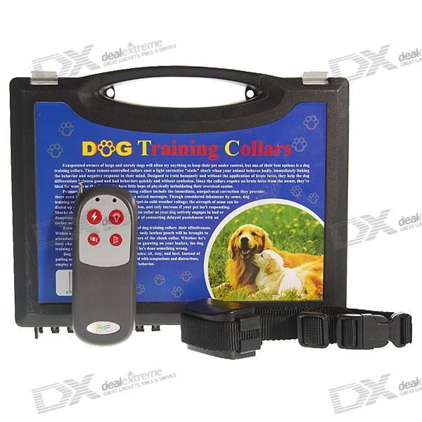 Electronic Bark-Control Dog Collar with 1KM Range RF Wireless Remote (Stops Barking)