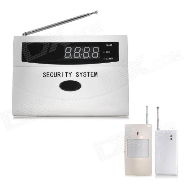 "2.0"" LCD Auto-Dial Audio Prompts Smart Home Security Alarm - White thumbnail"