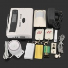 "2.0"" LCD Auto-Dial Audio Prompts Smart Home Security Alarm - White"