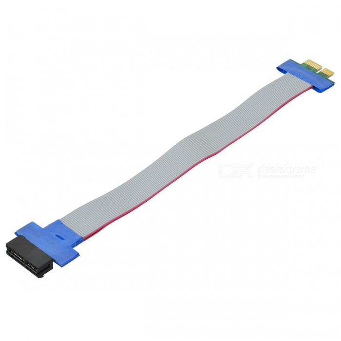 PCI Express PCI-E 1X to 36-Pin Riser Card Extender Ribbon Cable for 1U / 2U 6 pack pcie riser pci e 16x 8x 4x 1x powered adapter card 60cm usb 3 0 extension cable and 6 pin to 15 pin sata