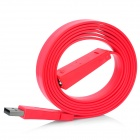 USB 2.0 Male to Female Extension Flat Cable - Red (1.5m)