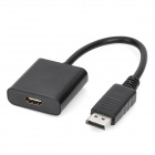 DisplayPort DP Male to HDMI Female Adapter Cable - Black (15cm)