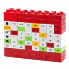 DIY Changing Environment Assembled Plastic Calendar - Red