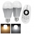 E27 6W 6500K 12-Warm White + 12-Cool White SMD 5630 LED Light Bulbs w/ Remote Control (AC 86~265V)