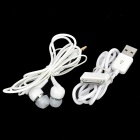 USB Data/Charging Cable + Earphone Set for Samsung N8000 / P5100 / P7500 / P7300 + More - White