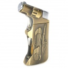 Tank Pattern Windproof Butane Gas Lighter - Golden