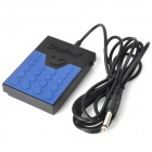 Daphon DF1178 Universal Electronic Keyboard Sustain Pedal - Black + Blue (6.35 Jack)