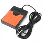 Daphon DF1178 Universal Electronic Keyboard Sustain Pedal - Black + Orange (6.35 Jack)