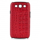 KALAIDENG Alligator Pattern Protective PU Leather Case for Samsung i9300 Galaxy S3 - Red