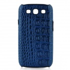 KALAIDENG Alligator Pattern Protective PU Leather Case for Samsung i9300 Galaxy S3 - Blue
