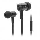 Stylish Awei ES-100i In-Ear Earphone w/ Microphone - Black (3.5mm Plug)