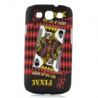 Dead Card Pattern Protective Plastic Case for Samsung i9300 Galaxy S3 - Black + Red + Yellow