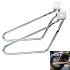 Detachable Motorcycle Saddlebags Brackets for Harley Davidson Sportster 883 - Silver (2 PCS)