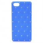 Rhombus Pattern CrystalSoft Silicone Back Case for Iphone 5 - Blue