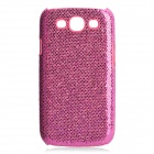 Protective Glittery Paillette PC Plastic Case for Samsung i9300 Galaxy S3 - Pink