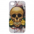 Protective Skull Head Pattern Plastic Back Case  for Iphone 4 / 4S