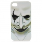 Protective Grimace Pattern Plastic Back Case for Iphone 4 / 4S - White