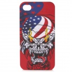 Protective Skull Head Pattern Plastic Back Case for Iphone 4 / 4S - Red