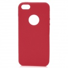 Protective Fingerprint Soft Silicone Cover Case for iPhone 5 - Red
