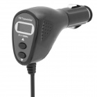"4-in-1 0.6"" LCD Car MP3 Player FM Transmitter w/ 3.5mm Audio Plug - Black (DC 12V / 63cm-Cable)"