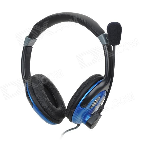 VOICEAO VA-900MV Stereo Headphone w/ Microphone / Volume Control - Black (3.5mm Plug / 240cm-Cable)