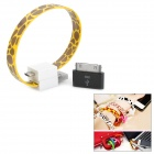 Apple 30 Pin Male to Micro USB Female Adapter w/ Magnetic Micro USB Cable - Yellow + Brown